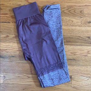 Gymshark purple two toned leggings